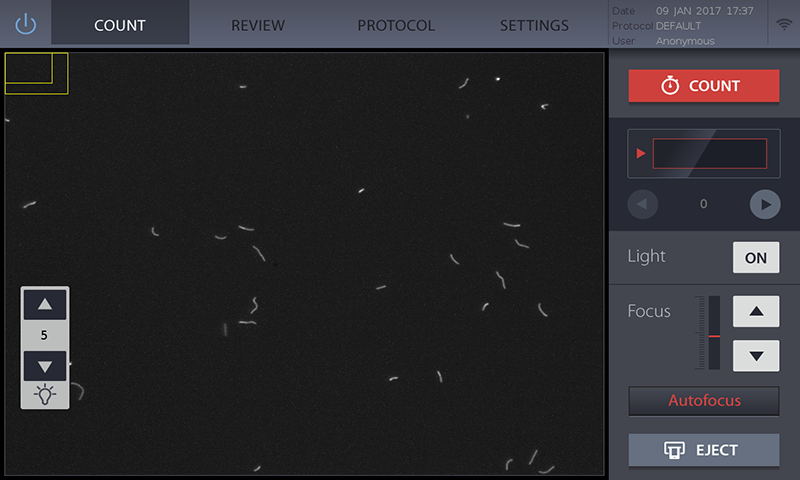 AUTOFOCUSED BACTERIAL CELL COUNTING